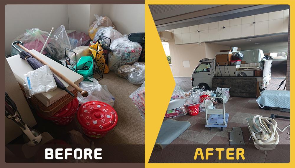 引っ越しに伴い不用品の処理にお困りのお客様からご相談いただきました。
