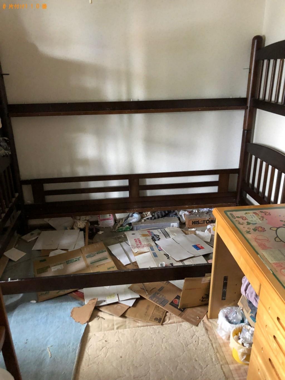 【山形市】二段ベッド、シングルベッドマットレス、本棚の回収・処分