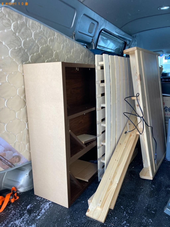 マットレス付きシングルベッド、家具の回収・処分ご依頼