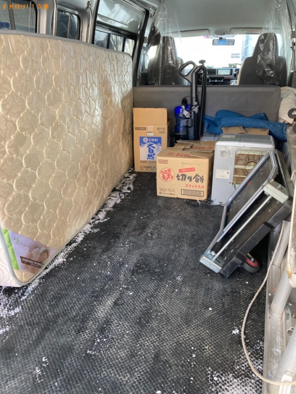 【山形市】マットレス付きシングルベッド、家具の回収・処分ご依頼