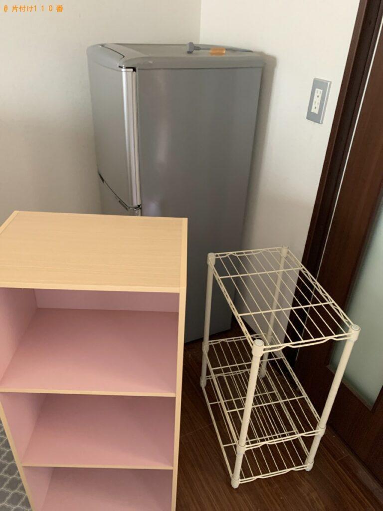 冷蔵庫、パソコン、スタンドミラー、収納棚等の回収・処分